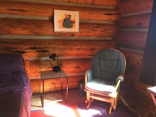 Beautiful, cozy yet spacious, entire log home awaits you- backs to Natl Forest!