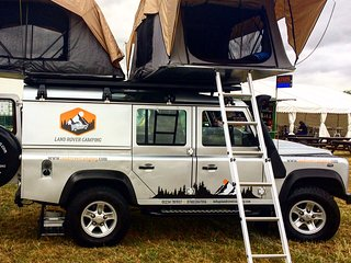 Land Rover Defender Camper for hire
