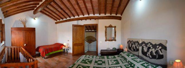 double room of Tuscan villa Centopino