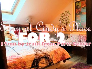 Cheap stay for two, 15mn away from Paris