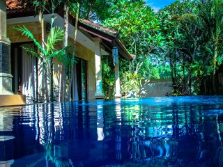 Villa Impian. A luxury villa located in a quiet and luscious part of Canggu.