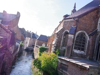 Medieval Manor House, Hesdin, by the river Canche