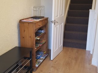 Spacious Entrance Hall from the front door. All the main living accomodation is on the 1st floor.