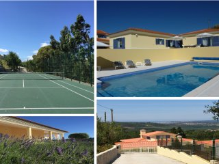 A  villa with private pool and private tenniscourt