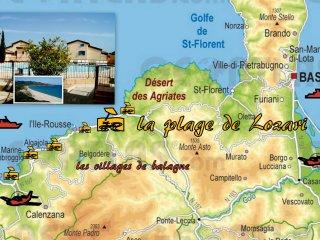 T3 Duplex 6 P clim + wi-fi + piscine + plage de Lozari (Ile Rousse) 7 mn a pied