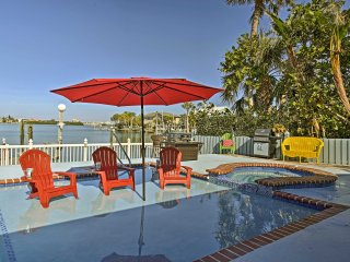Indian Rocks Beach Home w/Private Pool, Spa & Dock