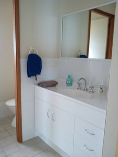 view of upstairs bathroom vanity area