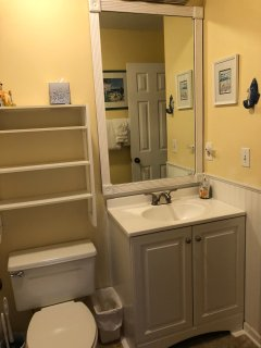 The second bathroom has been newly renovated.