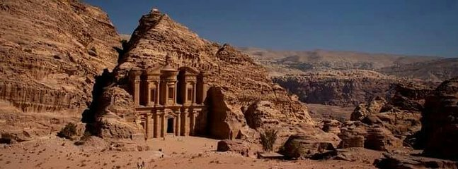 From cave to monstroey the end of Petra you can start hiking.