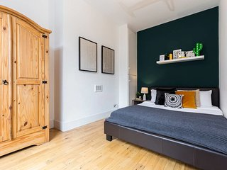 Master bedroom with big wardrobe
