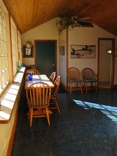 Spacious, sunny dining area.