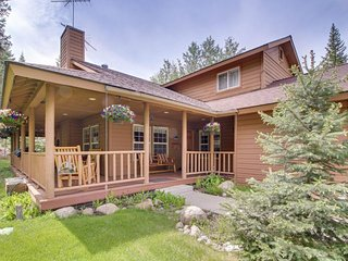 Well-maintained home w/large dec, hot tub, & space for two snowmobile trailers