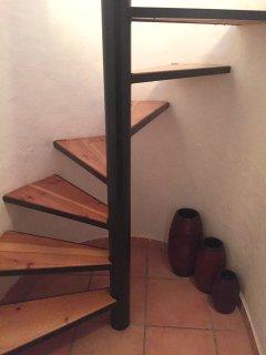 Escalera de acceso al apartamento