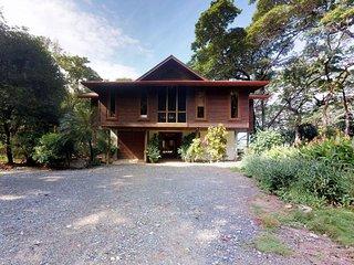 Elegant beachfront home w/ deck, screened porch, private beach & sea views!