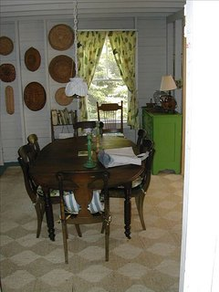 Dining room, looking towards back of cottage.