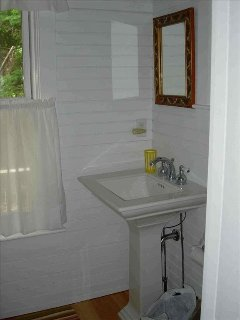 Downstairs full bath with shower.
