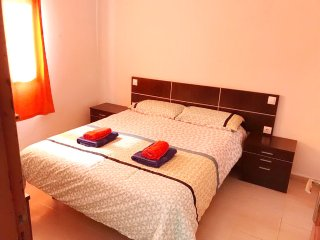 3 rooms Bungalow, near beach, free Wi-fi, up to 5 persons