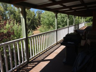 Expansive deck, stunning views of the valley