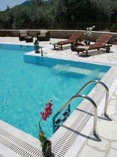 Large swimming pool of Villa Niriides