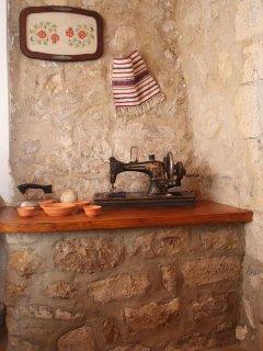 Traditional decorative details of Villa Menelia