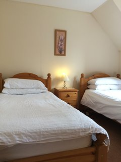 Twin bedroom - also has fitted wardrobe and chest of drawers