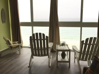 Gorgeous Gulf view from floor-to-ceiling windows that slide open at the top.