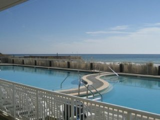 EASY ACCESS! Step off your Patio & into the Pool / Steps to Beach / Ocean View!