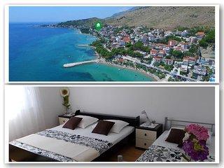 Comfortable apartment (A5) for 8, near sandy beach
