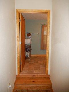 Step into bathroom