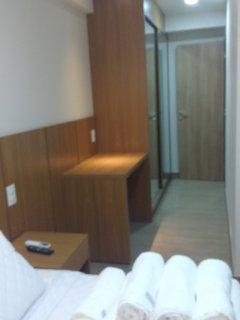 Detalhe do dormitório confortável