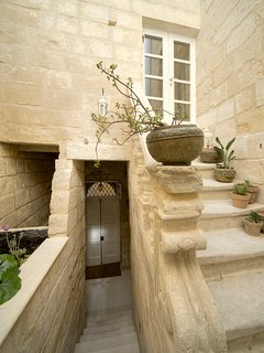 The entrance to our Malta boutique accommodation