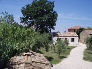 The holiday house seen from the main house