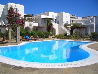 House at ornos with swimming pool