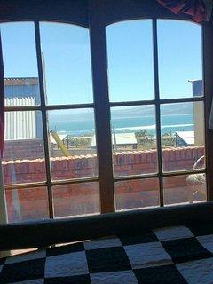 View from bedroom window la Puntilla surf break.