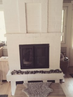 Fireplace is big and it's got glass doors to enjoy the fire. - It is just for fun or emergency.