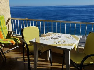 Excellent Beach frontline Apartment 'Elomar' seaviews, WiFi, A/C, Almunecar