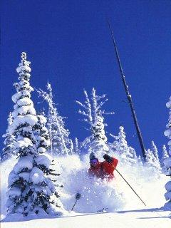 Skiing on Whitefish Mountain