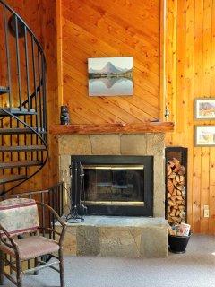 Wood burning fireplace and free wood!