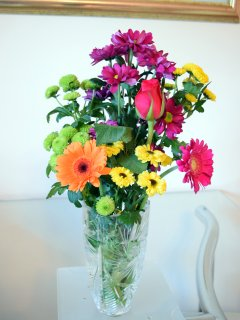 Fresh flowers to enhance your stay