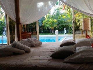 Superbe villa créole avec immense piscine au sein d'un sublime jardin tropical