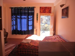 The Crazy Indian Pad - Bedroom 1 with double bed