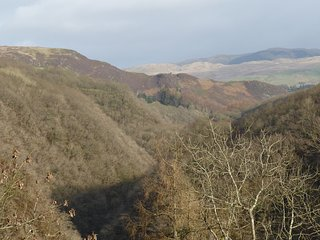 Views from the grounds over the fantastic gorge of Devils Bridge