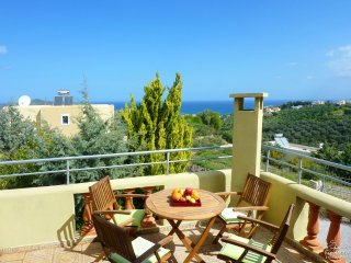 Ano Stalos Villa Sleeps 6 with Pool Air Con and WiFi - 5228063