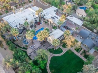 EXCLUSIVE 10,000+ SQ.FT MANSION AWAITS YOU IN A LUSH DESERT PARADISE