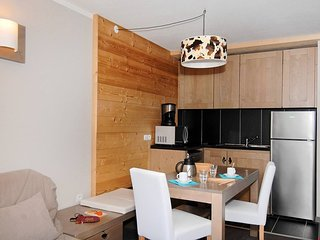 Studio + Sleeping Alcove for 4 for at Residence Lune Argent in Megeve