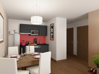 2 BR Apartment in Odalys Residence Le Village de Praroustan, Pra Loup