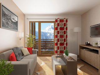 Studio Apartment at Residence Le Village de Praroustan at Pra Loup