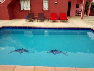 Loue belle villa avec piscine a La Somone ( a cote de  Saly ) - SENEGAL