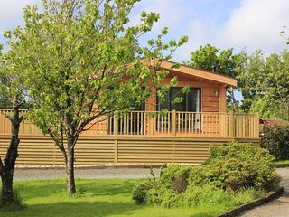 Cherry Tree lodge with Private wood burning hot tub.