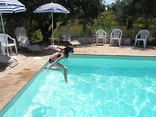 Family-friendly villa with private pool, superb mountain views and wifi